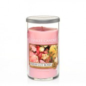 Yankee Candle Fresh Cut Roses Medium Pillar