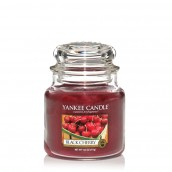 Yankee Candle Black Cherry Geurkaars Medium Jar Candle (90 branduren)