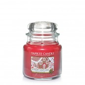 Yankee Candle Candy Cane Lane Geurkaars Medium Jar Candle (90 branduren)