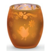 Yankee Candle Chick Tea Light Holder Orange