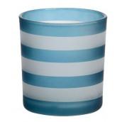 Yankee Candle Coastal Stripe Dark Blue Votive Holder