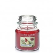 Yankee Candle Cranberry Pear Geurkaars Medium Jar Candle (90 branduren)