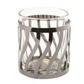 Yankee Candle Curve Gun Metal Votive Holder