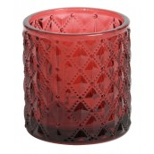 Yankee Candle Deco Lounge Maroon Glass Votive Holder