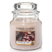 Yankee Candle Ebony And Oak Geurkaars Medium Jar Candle