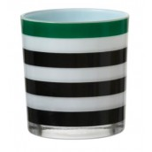 Yankee Candle Festive Stripe & Polkadot Green Votive Holder