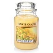 Yankee Candle Flowers in the Sun Geurkaars Large Jar Candle (150 branduren)
