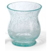 Yankee Candle Flute Crackle Votive Holder - Blue