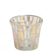 Yankee Candle Gold Wave Mosaic Votive Holder