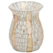 Yankee Candle Gold Wave Mosaic Wax Burner