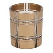 Yankee Candle Golden Etched Glass Votive Holder