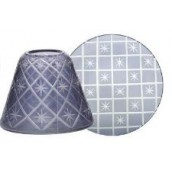 Yankee Candle Grey Etched Star Small Shade & Tray