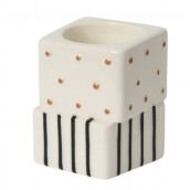 Yankee Candle Jackson Frost Tea Light Holder - Dots and Stripes