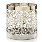 Yankee Candle Matrix Brushed Silver Jar Holder