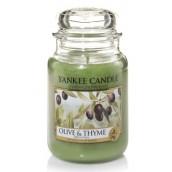 Yankee Candle Olive & Thyme Geurkaars Large Jar Candle (150 branduren)