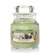 Yankee Candle Olive & Thyme Geurkaars Small Jar Candle (40 branduren)