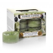 Yankee Candle Olive & Thyme Tea Lights (6 branduren)