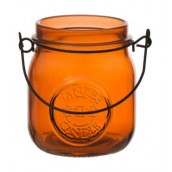 Yankee Candle Jam Jar Tea Light  Holder Orange