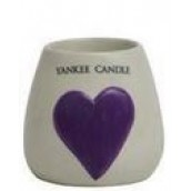 Yankee Candle Painted Ceramic Votive Holder Purple