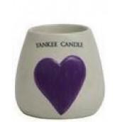 Yankee Candle Painted Ceramic Votive Holder Purple