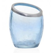 Yankee Candle Pearlescent Crackle Blue Votive Holder