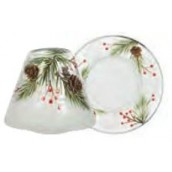 Yankee Candle Pine Cone Crackle Small Shade & Tray