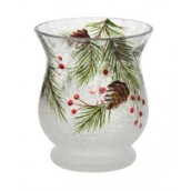 Yankee Candle Pine Cone Crackle Votive Holder