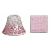 Yankee Candle Pink Fade Crackle Small Shade & Tray