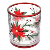 Yankee Candle Poinsettia Crackle Tea Light Holder- Small