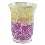 Yankee Candle Purple & Gold Crackle Jar Holder