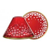 Yankee Candle Red & Gold Snowfall Large Shade & Tray