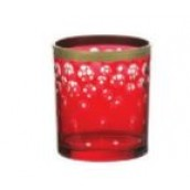 Yankee Candle Red & Gold Snowfall Votive Holder