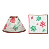 Yankee Candle Red & Green Snowflake Large Shade & Tray