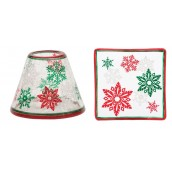 Yankee Candle Red & Green Snowflake Small Shade & Tray