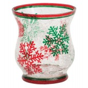 Yankee Candle Red & Green Snowflake Votive Holder