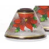 Yankee Candle Red Poinsettia Small Shade & Tray