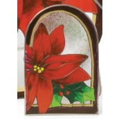 Yankee Candle Red Poinsettia Tea Light Holder Arch