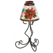 Yankee Candle Red Poinsettia Tea Light Holder Lamp