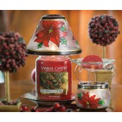 Yankee Candle Red Poinsettia Large Shade & Tray
