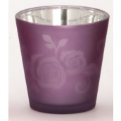 Yankee Candle Rose Votive Holder Purple