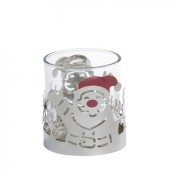 Yankee Candle Silver Santa Votive Holder
