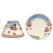 Yankee Candle Skating Snowmen Large Shade & Tray