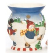 Yankee Candle Skating Snowmen Melt Warmer