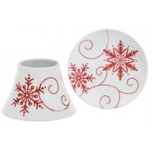 Yankee Candle Snowflake Ceramic Large Shade & Tray