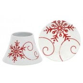 Yankee Candle Snowflake Ceramic Small Shade & Tray