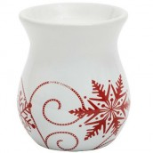Yankee Candle Snowflake Ceramic Wax Burner