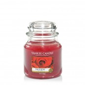 Yankee Candle True Rose Geurkaars Medium Jar Candle (90 branduren)
