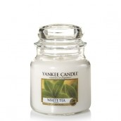 Yankee Candle White Tea Geurkaars Medium Jar Candle (90 branduren)