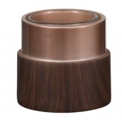 Yankee Candle Wood & Copper Round Votive Holder