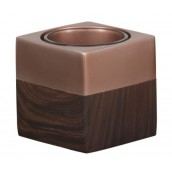 Yankee Candle Wood & Copper Square Votive Holder